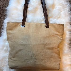 100% Authentic Chanel leather and raffia tote